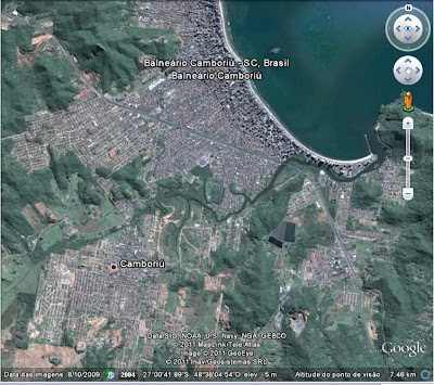 Balneário Camboriú no Google Earth