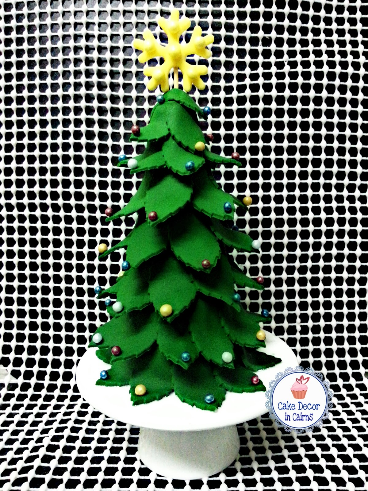 Fondant Christmas Tree Topper Cake Decor in Cairns