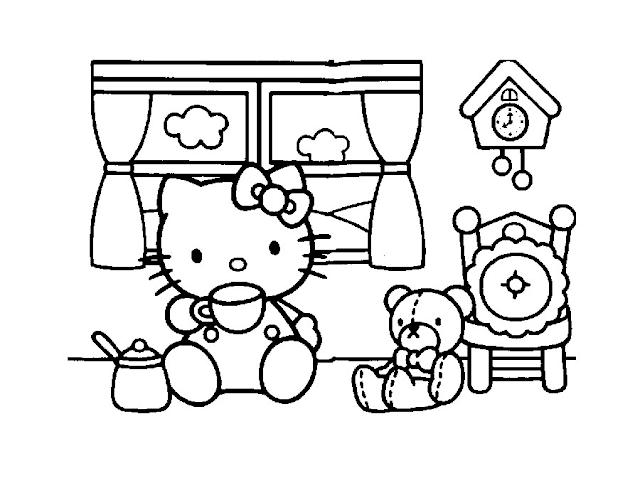 Gambar Mewarnai Hello Kitty - 2