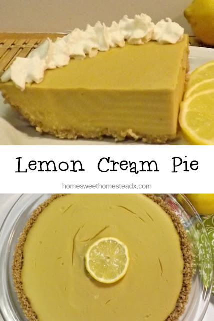 Lemon Cream Pie: Home Sweet Homestead