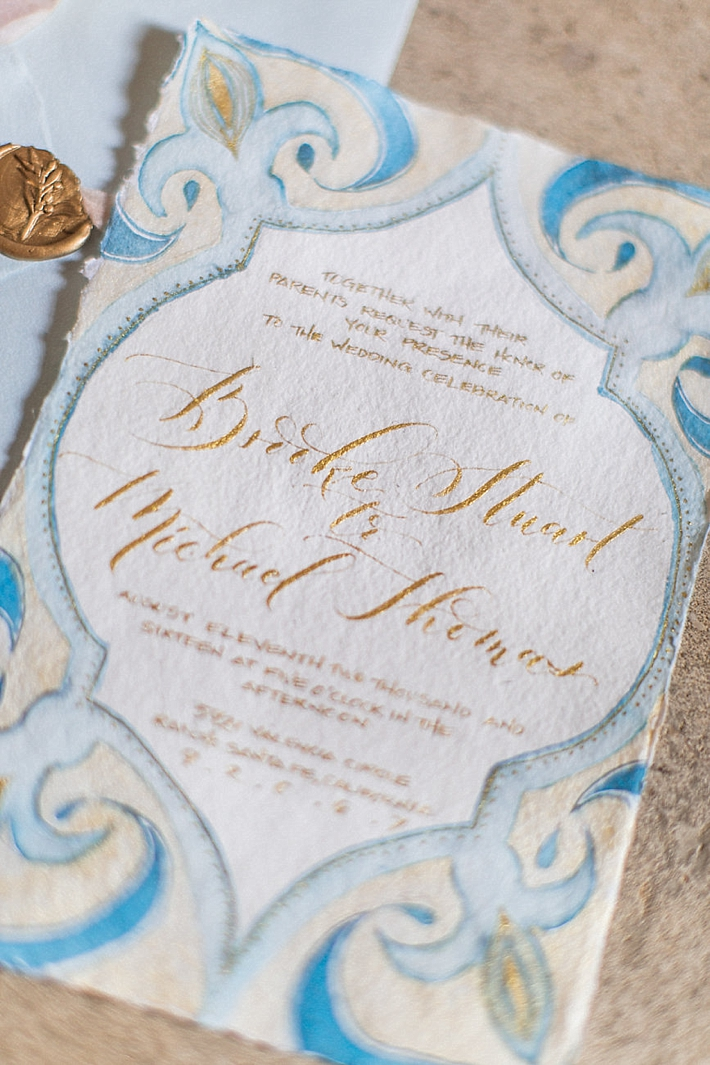 Calligraphy Wedding Invitations | Stephanie Ponce Photography