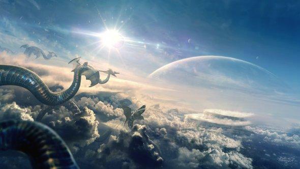 Erik Shoemaker deviantart arte photoshop ilustrações foto-manipulações fantasia ficção científica espaço