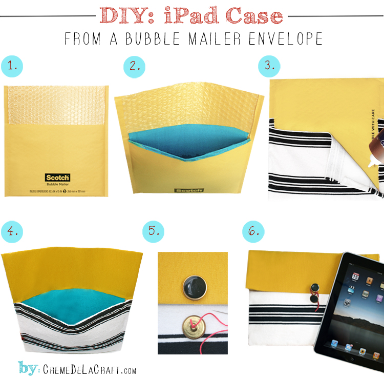 Diy Ipad Case From A Bubble Mailer Envelope