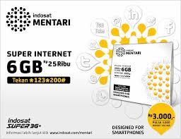 Cara Daftar Paket Internet Mentari Indosat 3GB, 11GB Bulanan