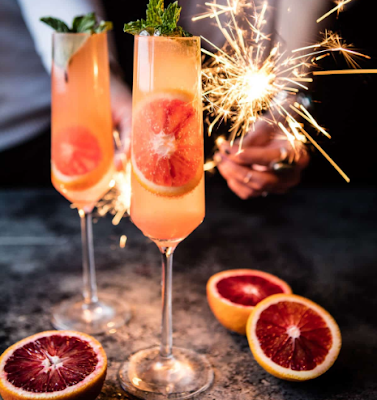 blood orange champagne mule #drink