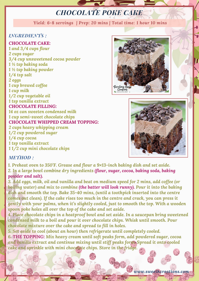 CHOCOLATE POKE CAKE RECIPE