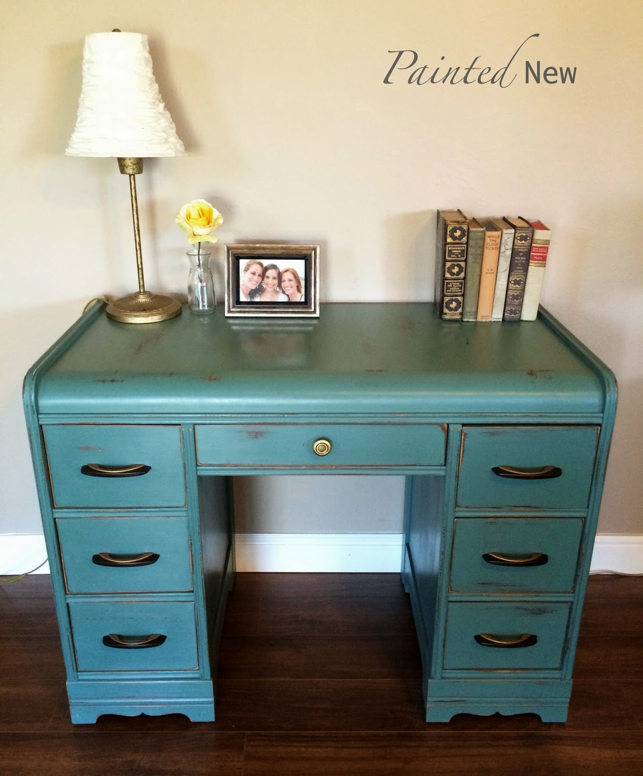 Art Deco Waterfall Desk