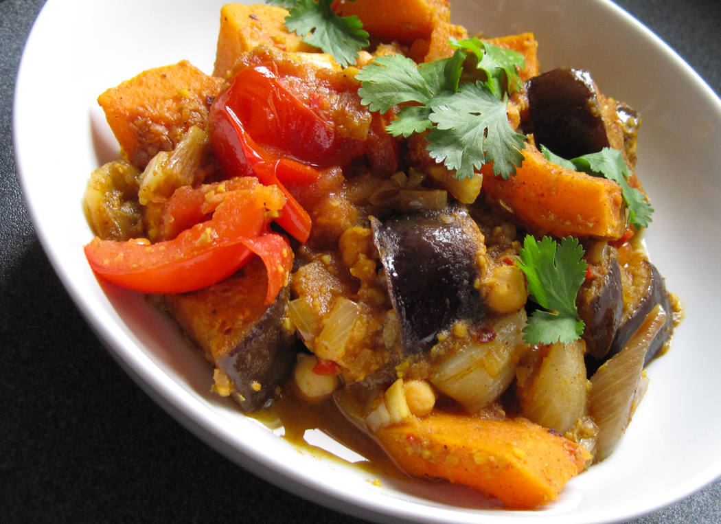 Roasted Aubergine and Butternut Tagine