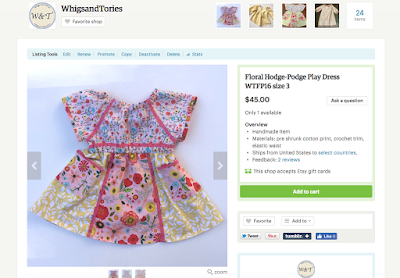 Whigs and Tories, Floral, Dress, mix print, coral trim, crochet trim, made in usa, slow fashion