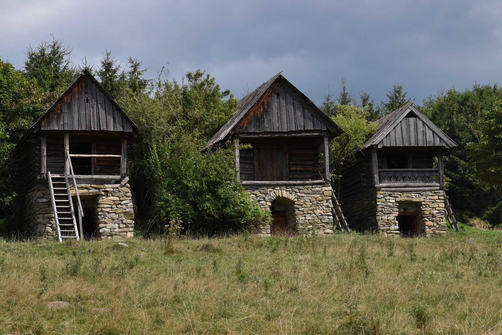 dřevěné domky Kluzkowce Polsko
