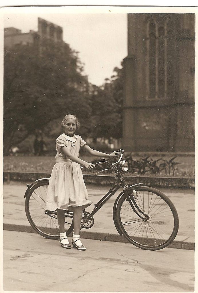 All The Girls Standing In The Line For The Bathroom: Vintage Photos Of Ladies With Bicycles