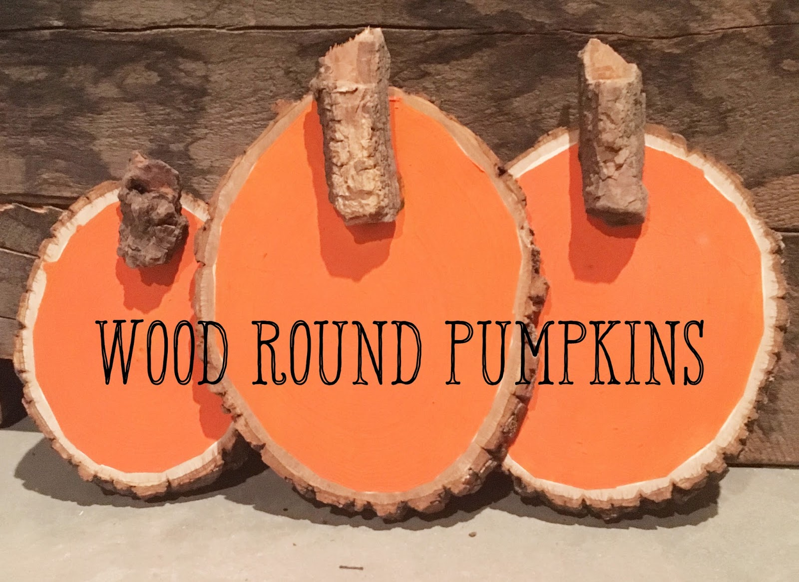 DIY wood round pumpkins