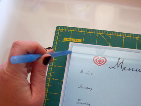 DIY Dry-Erase Menu Board with Free Printables mark