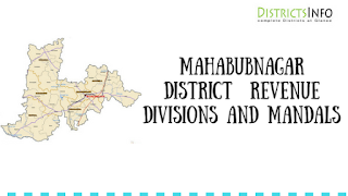 Mahabubnagar District  Revenue Divisions and Mandals