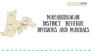 Mahabubnagar District  Revenue Divisions and Mandals