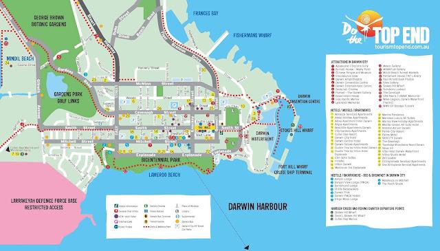 Mapa de Darwin - Austrália