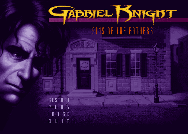 Gabriel Knight Sins of the Fathers Title screen