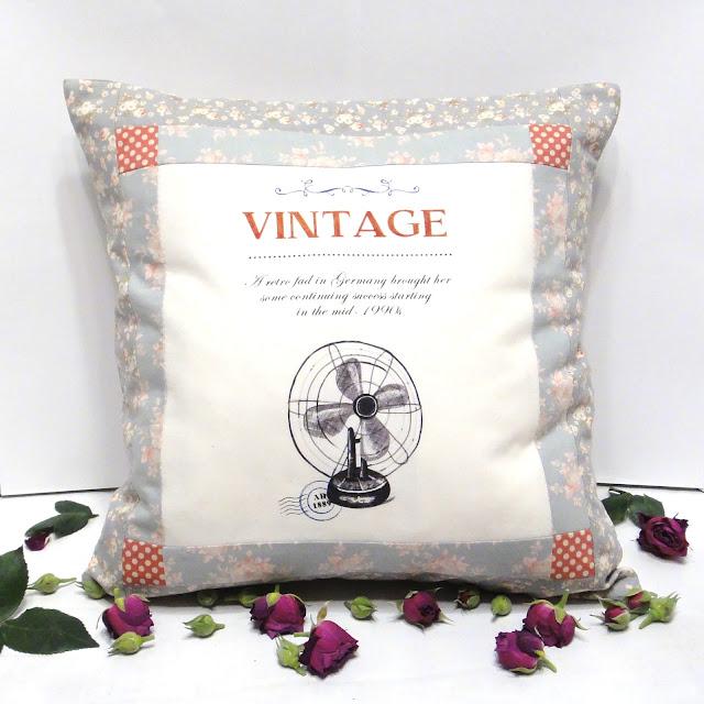 Декоративные подушки 40 х 40 см Вентилятор Подарок антиквару Серый, розовый натуральный хлопок