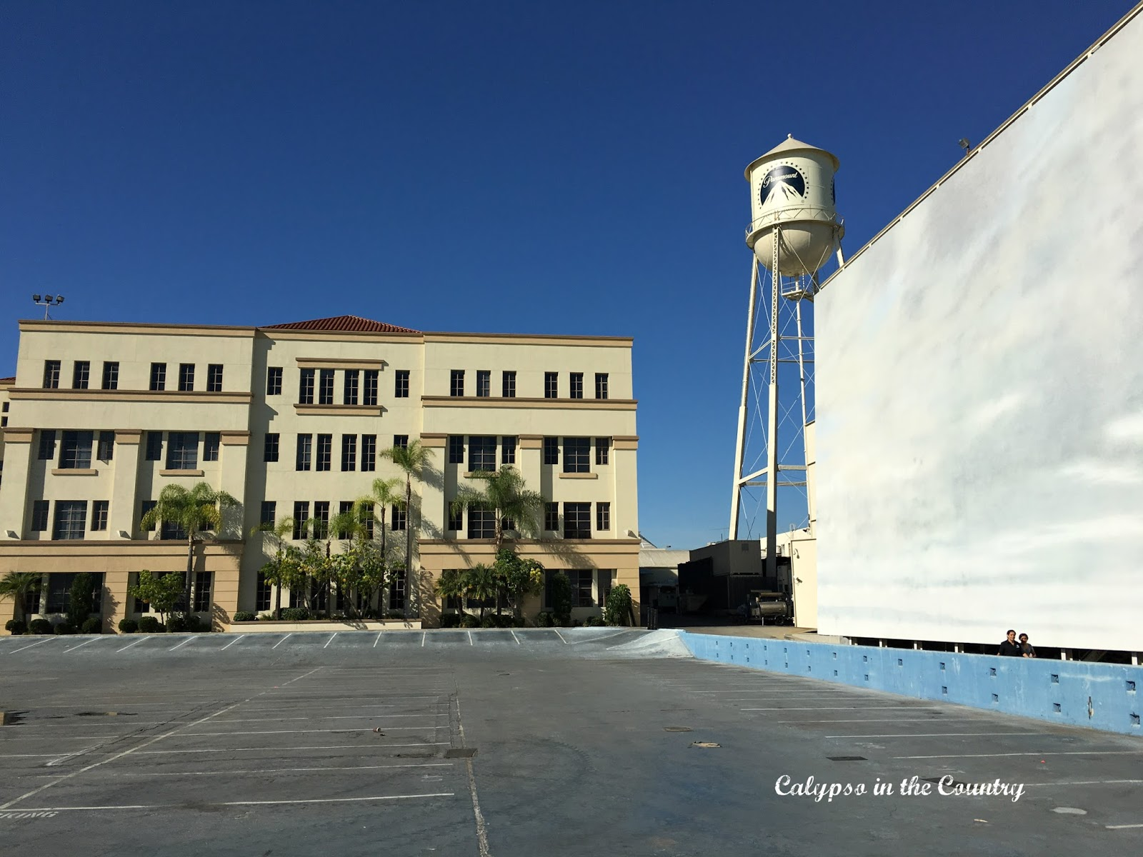 Parking Lot used for ocean scenes at Paramount Studios
