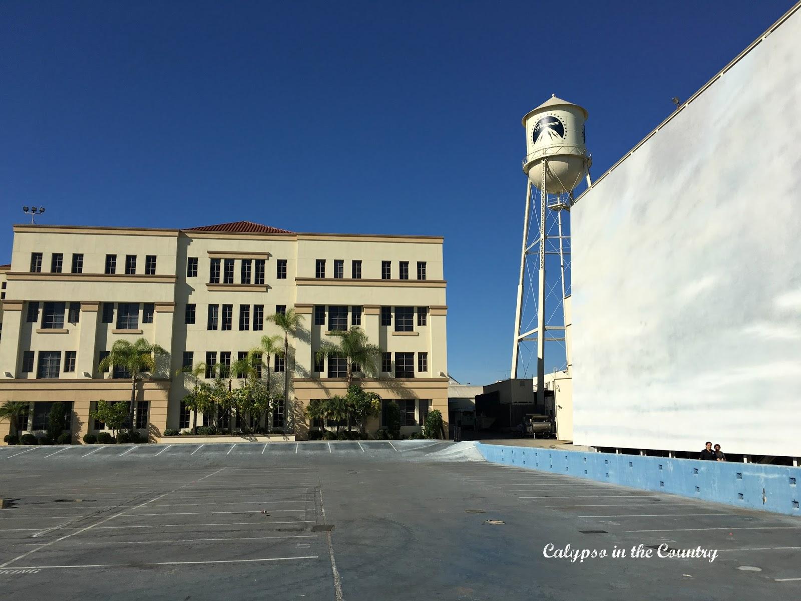 Parking Lot used for ocean scenes at Paramount Studios