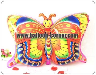 Balon Foil Karakter Kupu Kupu