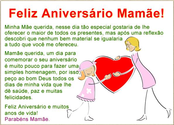 LINDAS FRASES E MENSAGENS DE ANIVERSÁRIO PARA MÃE
