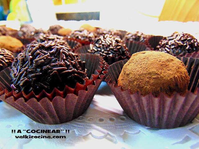 trufas ce chocolate y leche condensada