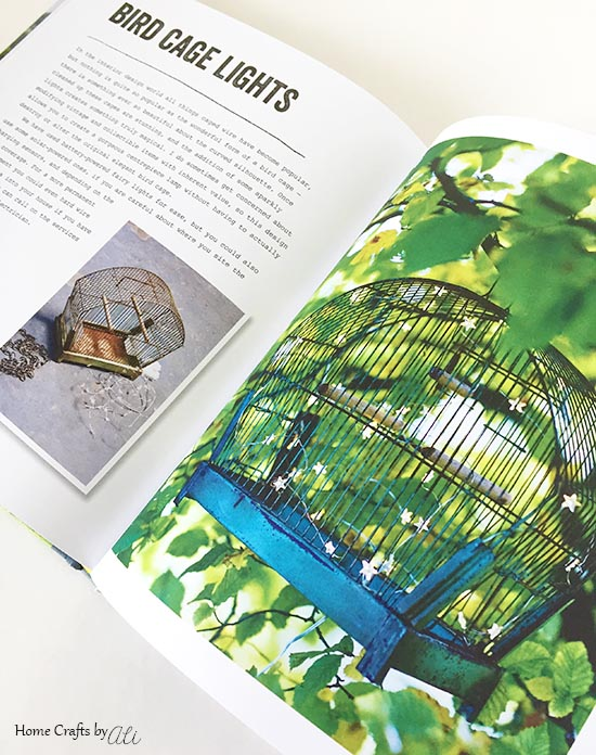 Bird Cage Light upcycle project step by step instructions