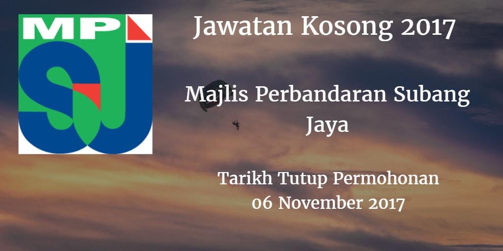 Jawatan Kosong MPSJ 06 November 2017