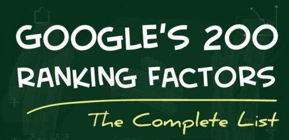 Daftar 200 Faktor SEO yang Mempengaruhi Peringkat Blog di Google