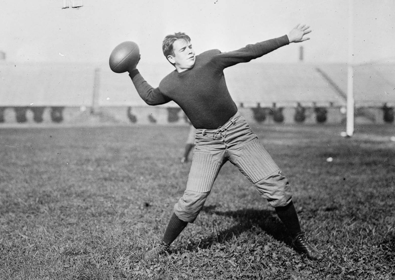 A player for Pennsylvania University. 1910.