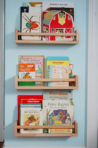 Repurposing spice racks into children's bookshelves - IKEA ...