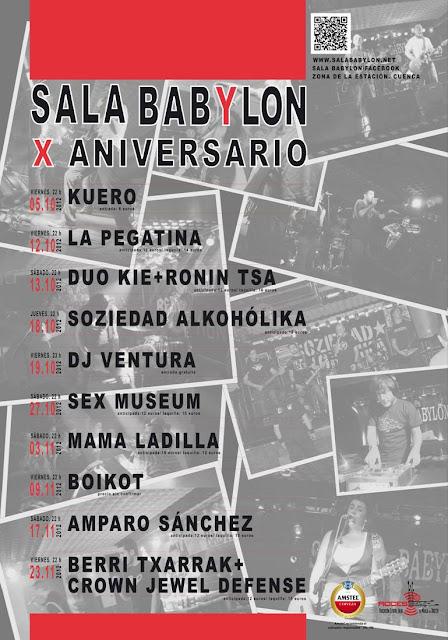 Décimo aniversario de la Sala Babylon 3
