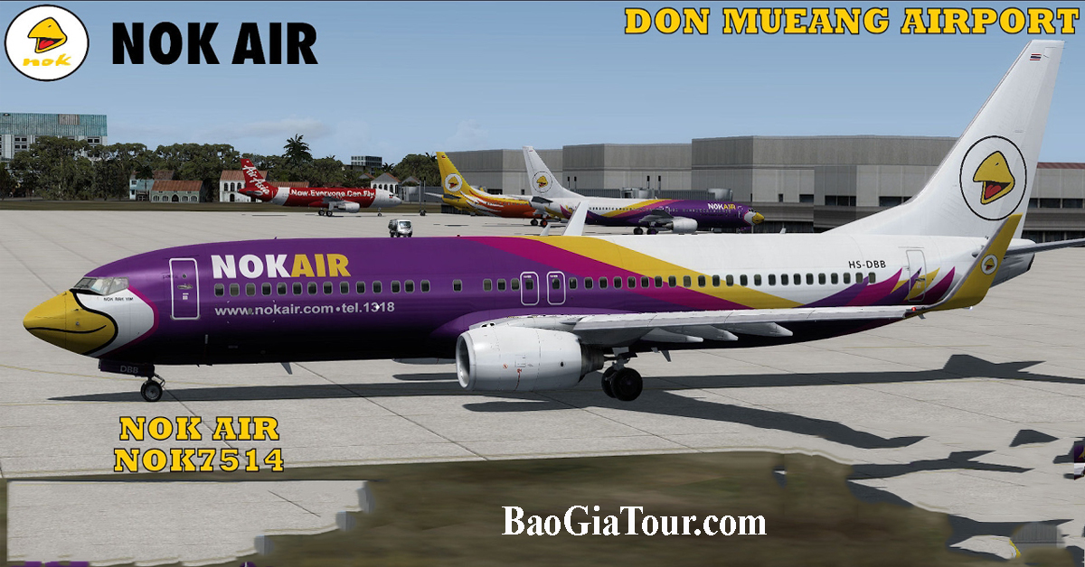 Tour du lịch Thái Lan khởi hành từ TPHCM hãng máy bay Nok Air