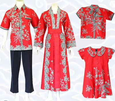 model baju batik keluarga untuk ulang tahun