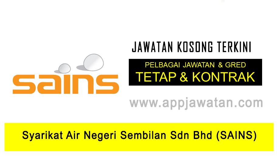 Jawatan Kosong Di Syarikat Air Negeri Sembilan Sdn Bhd Sains 7 Disember 2018 Appjawatan Malaysia