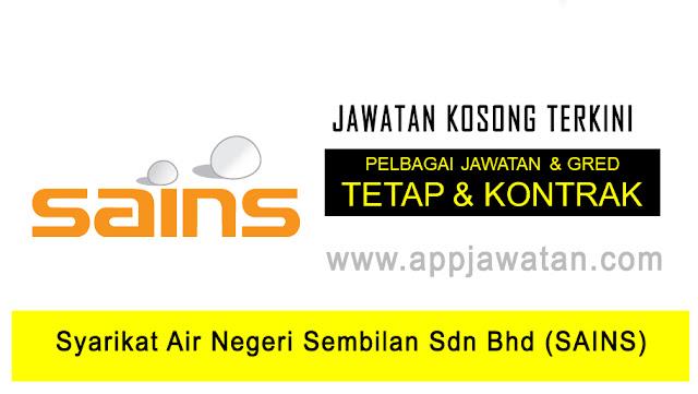 Jawatan Kosong di Syarikat Air Negeri Sembilan Sdn Bhd (SAINS)