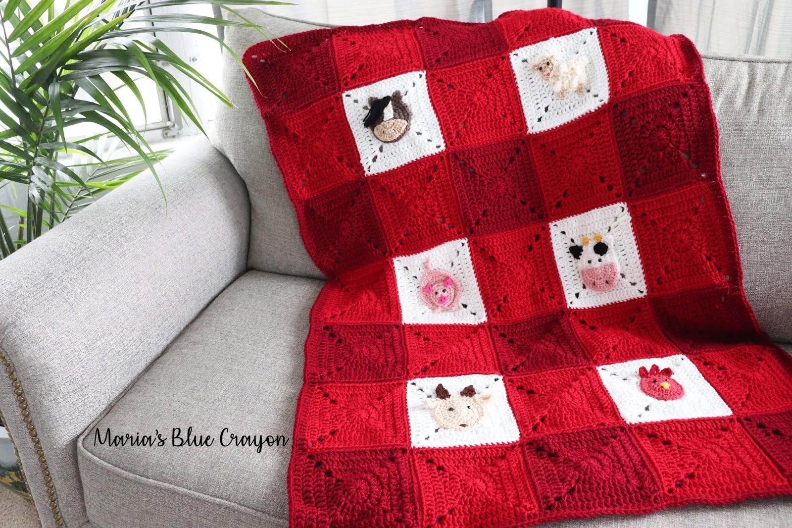 Granny square farm blanket free crochet pattern and crochet along