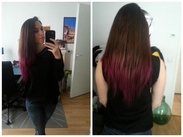 cheveux ombre violet