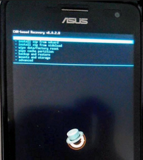 Tutorial Akses CWM Recovery Asus Zenfone 4 Tanpa Root