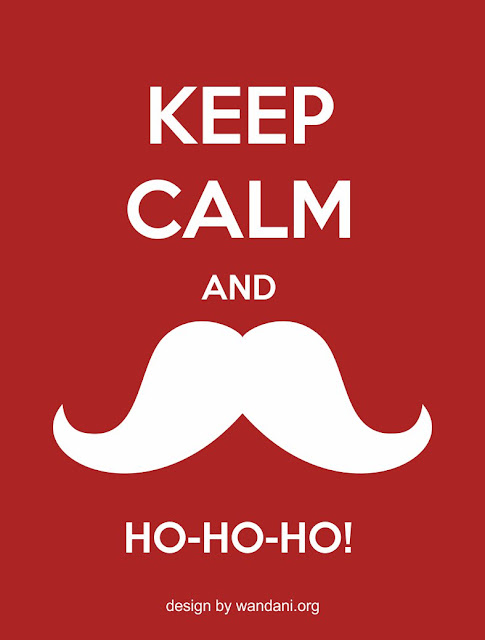 Keep Calm And Ho-Ho-Ho - Free Vector