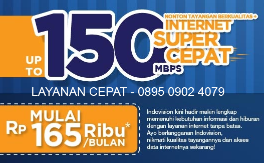 Paket Indovision Internet Unlimited - 0895 0902 4079
