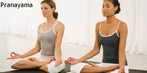 two pretty woman doing Pranayama