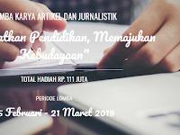Lomba Menulis Artikel 2019 Kemendikbud [Gratis+111 Jt]