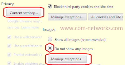 Block Image on Specific Websites in Google Chrome