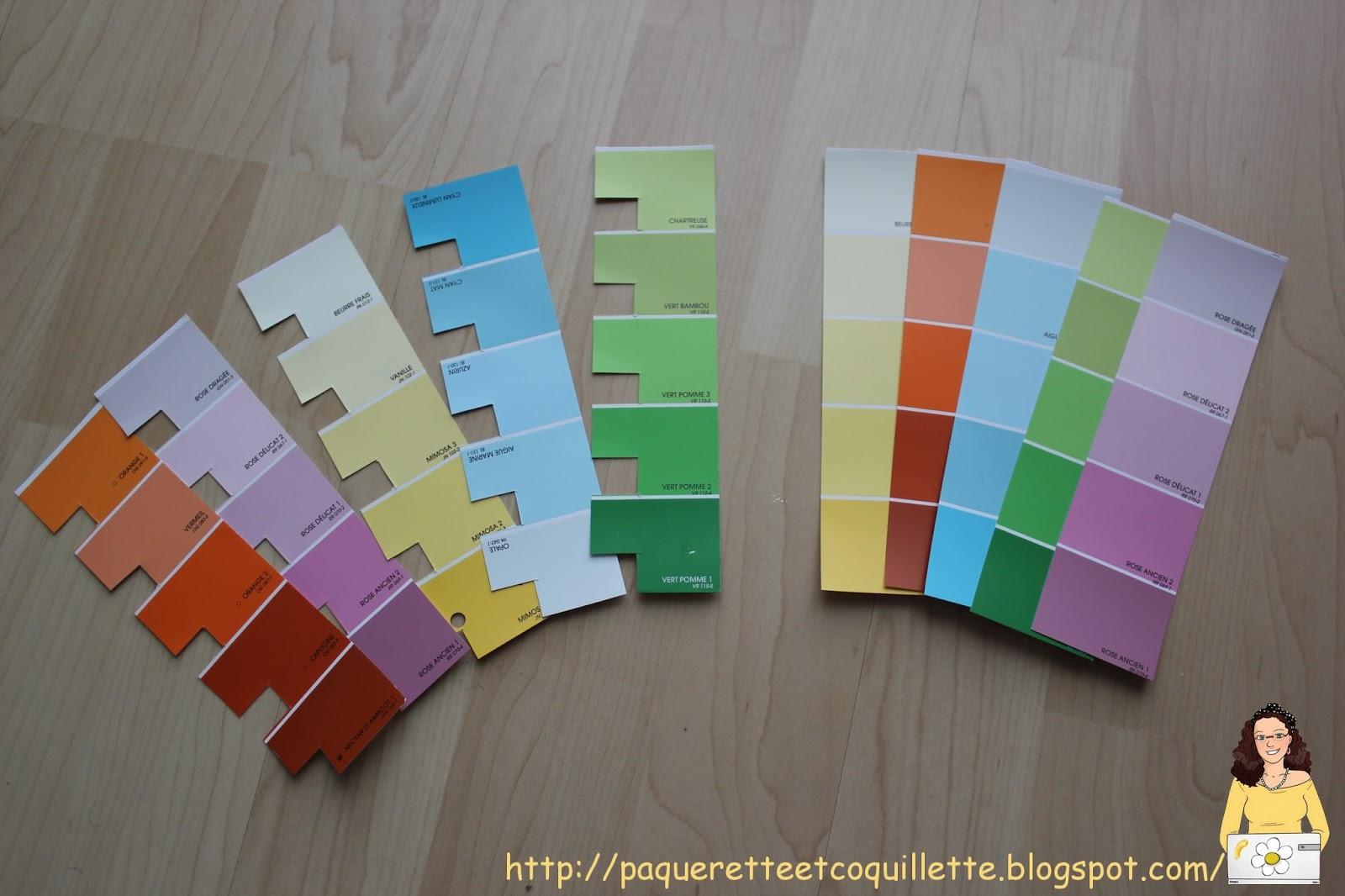paquerette et coquillette  activit u00e9 montessori   reconnaitre et associer des nuances de couleurs