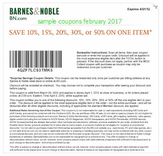Barnes and Noble coupons for february 2017