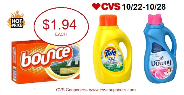 http://www.cvscouponers.com/2017/10/hot-pay-194-for-downy-bounce-or-tide.html