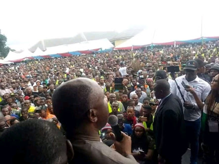 Amaechi Welcomes PDP Members to APC in Eleme, Rivers State