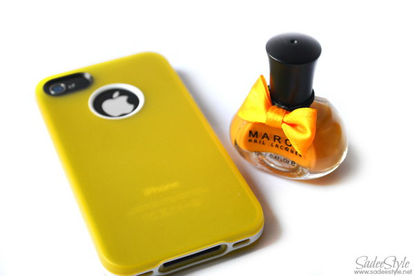 March Sweet Candy Colors Nail Art Polish Lacquer and Iphone Case